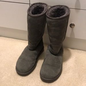 Classic tall grey UGGS